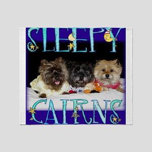 Sleepy Cairn Terriers Throw Blanket