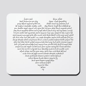Verb Heart Mousepad