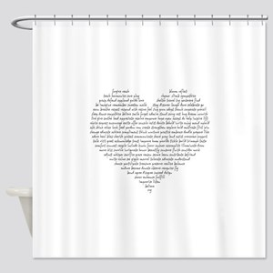 Verb Heart Shower Curtain