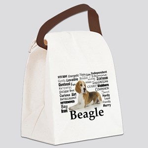Beagle Traits Canvas Lunch Bag