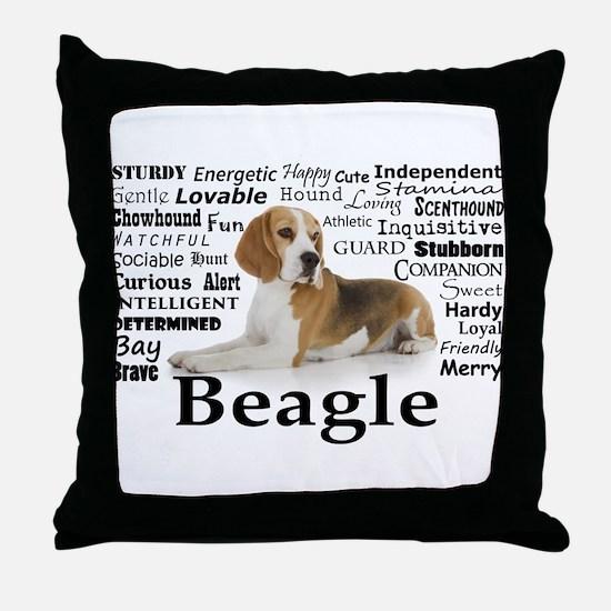 Beagle Traits Throw Pillow