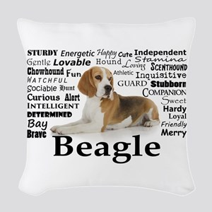Beagle Traits Woven Throw Pillow