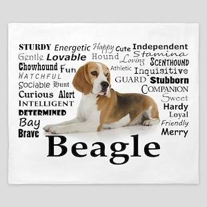 Beagle Traits King Duvet
