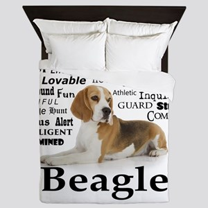 Beagle Traits Queen Duvet