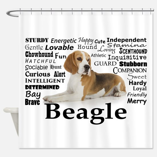 Beagle Traits Shower Curtain