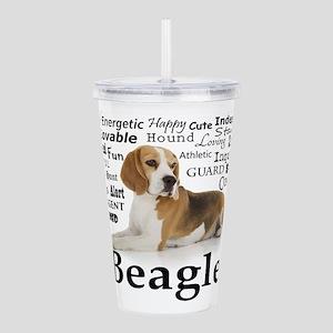 Beagle Traits Acrylic Double-wall Tumbler