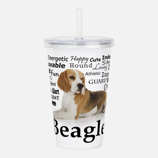 Beagle Traits Acrylic Double-wall Tumbler