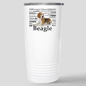 Beagle Traits Stainless Steel Travel Mug