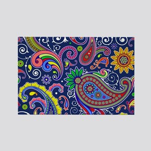 colorful paisley Magnets