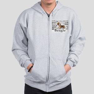 Beagle Traits Zip Hoodie