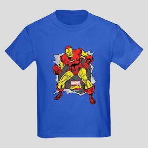 Iron Man Ripped Kids Dark T-Shirt