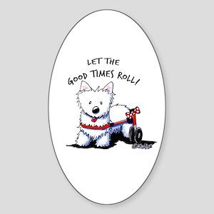 Good Times Westie Sticker (Oval)