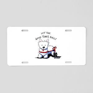 Good Times Westie Aluminum License Plate