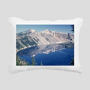 Crater Lake June 1967  Rectangular Canvas Pillow