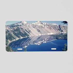 Crater Lake June 1967  Aluminum License Plate