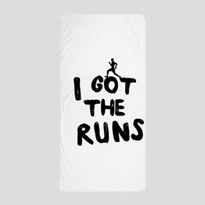I got the runs Beach Towel