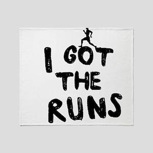 I got the runs Throw Blanket