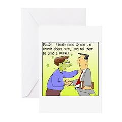 Back Pew Logo 1 Greeting Cards