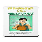 Womans Purse Back Pew 1 Mousepad