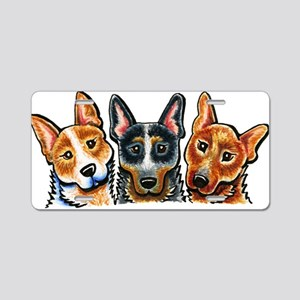 3 Cattle Dogs Aluminum License Plate