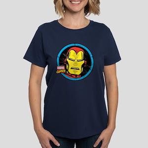 Iron Man Face Women's Dark T-Shirt