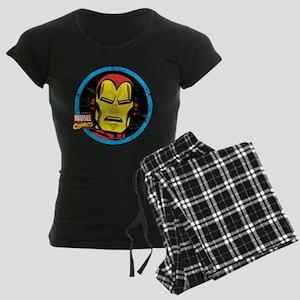 Iron Man Face Women's Dark Pajamas