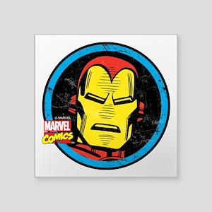 "Iron Man Face Square Sticker 3"" x 3"""