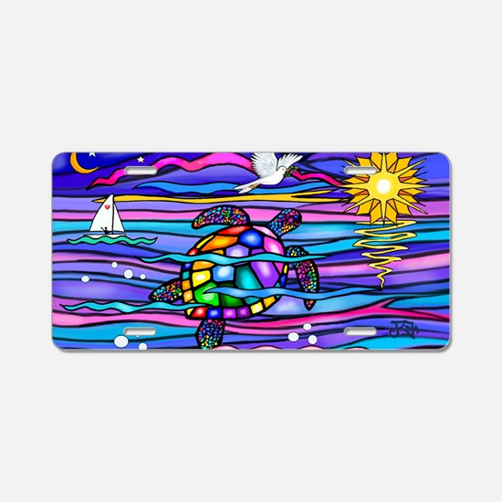 Cute Ocean Aluminum License Plate