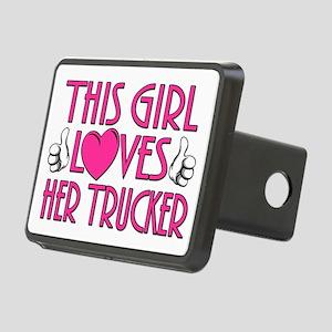 This Girl Loves Her Trucke Rectangular Hitch Cover