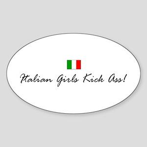 Italian Girls Oval Sticker