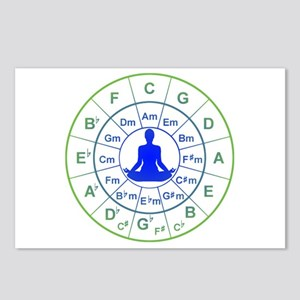 Yoga Circle of 5ths Postcards (Package of 8)