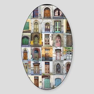Doors of Tallinn Sticker (Oval)