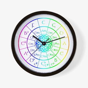 Celtic Circle of 5ths Wall Clock