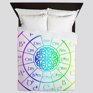 Celtic Circle of 5ths Queen Duvet