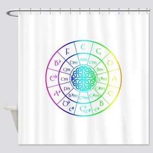 Celtic Circle of 5ths Shower Curtain
