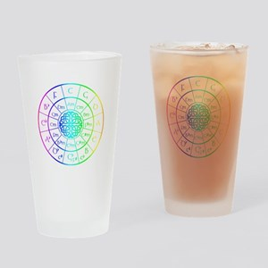 Celtic Circle of 5ths Drinking Glass