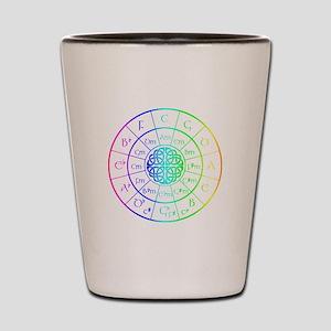 Celtic Circle of 5ths Shot Glass