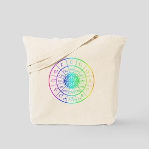 Celtic Circle of 5ths Tote Bag