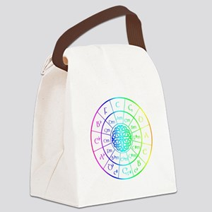 Celtic Circle of 5ths Canvas Lunch Bag