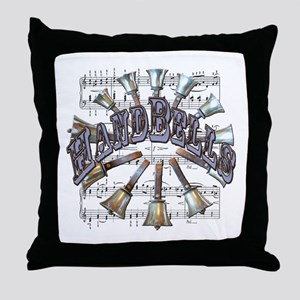 Handbells Throw Pillow