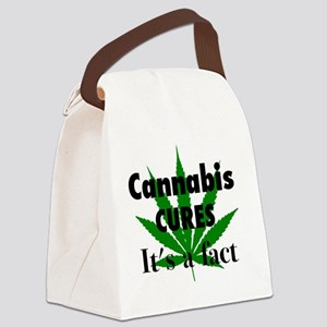 Cannabis Cures It's a fact Canvas Lunch Bag