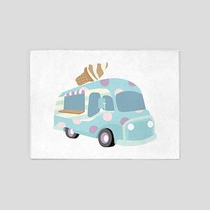 Ice Cream Truck 5'x7'Area Rug