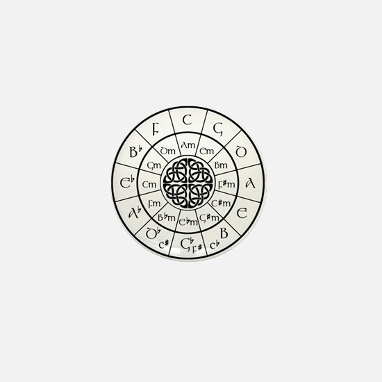 Celtic-blk Circle of 5ths Mini Button