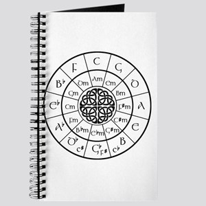 Celtic-blk Circle of 5ths Journal