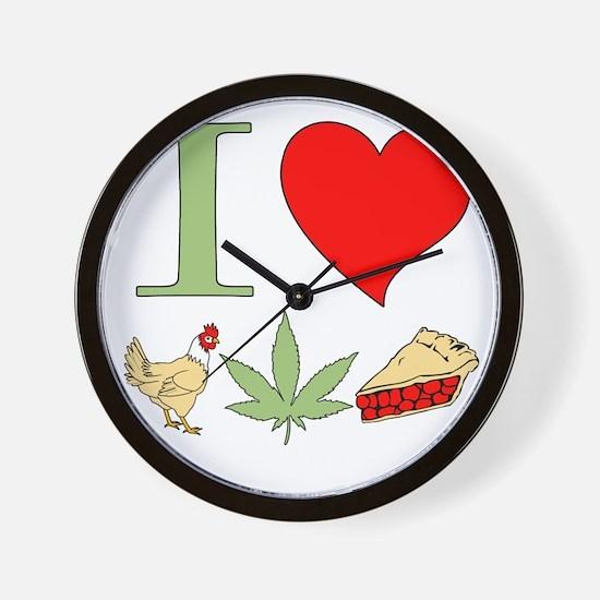I Love Chicken Pot Pie Wall Clock