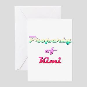 Property Of Kimi Female Greeting Card