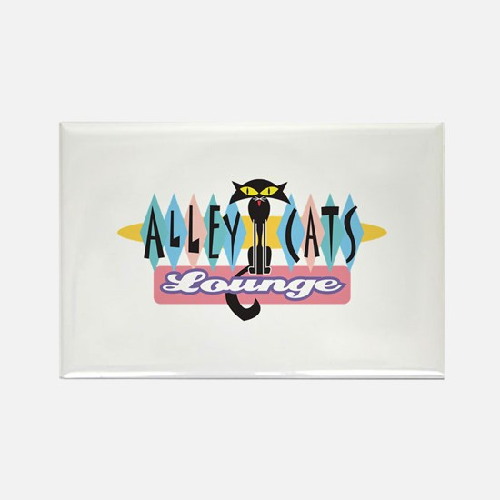 Retro Alley Cats Lounge Design Rectangle Magnet