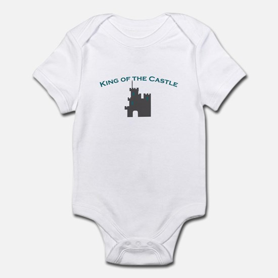 """king of the castle"" infant body suit"