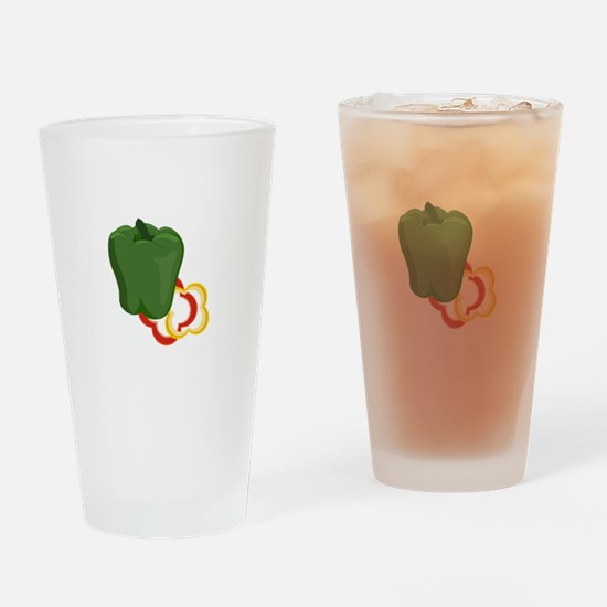Bell Peppers Colors Drinking Glass
