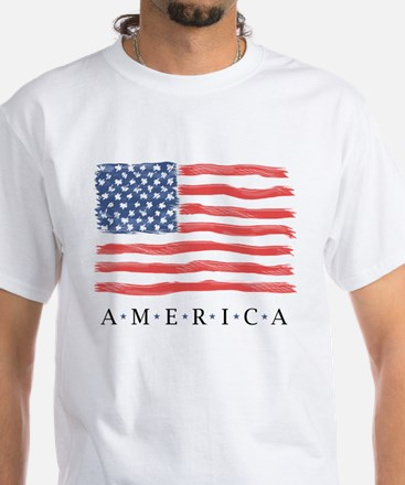 American Flag / Traditional Design - T-Shirt